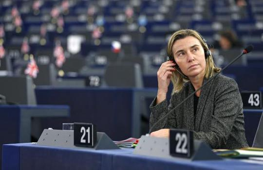 European Union High Representative for Foreign Affairs and Security Policy Federica Mogherini attends a debate on the recognition of Palestine statehood at the European Parliament in Strasbourg, November 26, 2014. REUTERS/Vincent Kessler