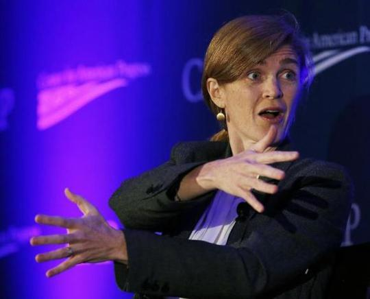 U.S. Ambassador to the United Nations Samantha Power speaks at the Center for American Progress 2014 Making Progress Policy Conference in Washington November 19, 2014. REUTERS/Gary Cameron