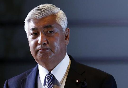 Japans new Defence Minister Gen Nakatani arrives at Prime Minister Shinzo Abes official residence in Tokyo December 24, 2014. REUTERS-Thomas Peter