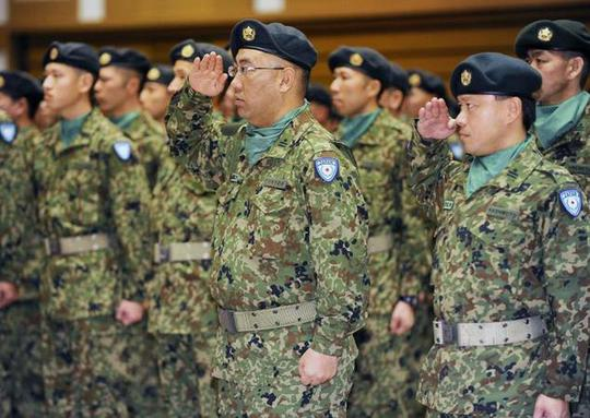 Members of Japans Self Defence Force depart Tokyo in 2010 to join United Nations peacekeeping and reconstruction operations in Haiti