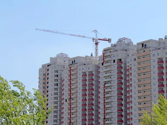 Một dự án căn hộ đang hoàn thiện ở TP HCM.