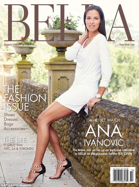 Ivanovic trên bìa tạp chí Bella