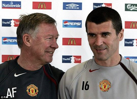 HLV Ferguson và Roy Keane