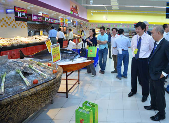 Khu vực bán hàng tươi sống tại Big C Nha Trang