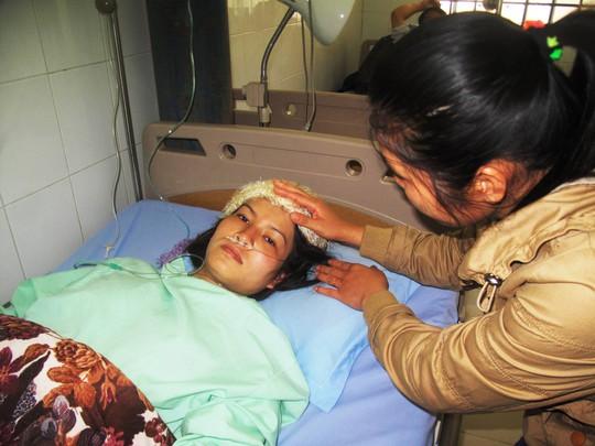 Sức khỏe chị Đặng Thị Hồng Ngọc đang hồi phục tốt  Ảnh: HỒNG ÁNH