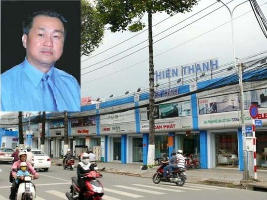 Ông Phạm Công Danh (ảnh nhỏ) và Trung tâm vật liệu xây dựng Thiên Thanh ở TP HCM
