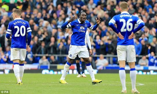 Tiền đạo Lukaku trong màu áo Everton