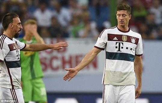 Ribery và Lewandowski, 2 cầu thủ ghi bàn cho Bayern Munich