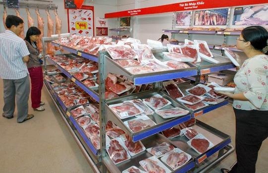 Thịt bò nhập khẩu bán trong siêu thị. Ảnh: Lê Quang Nhật
