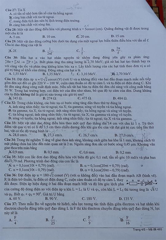 Gợi ý giải đề thi ĐH môn vật lý