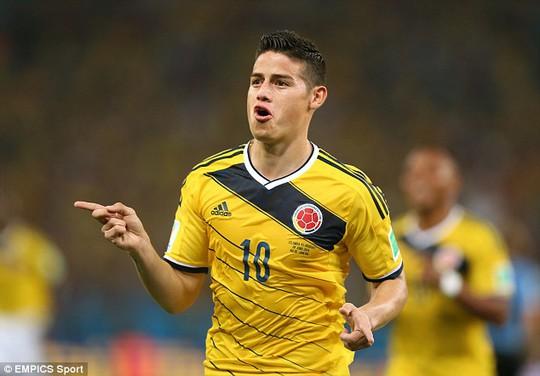 Phong độ sáng chói của Rodriguez ở World Cup 2014 đã đưa anh đến Real Madrid