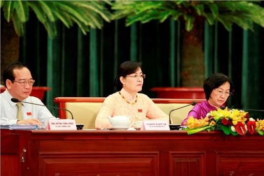 Chủ tịch HĐND TP HCM Nguyễn Thị Quyết Tâm đặt ra 3 vấn đề cho Chủ tịch UBND TP HCM
