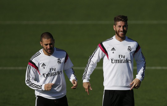 Karim Benzema và Ramos sẵn sàng xung trận