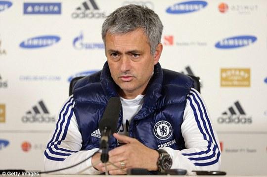 Ông Mourinho phát biểu trong cuộc họp báo trước trận đấu với Man City ở Cúp FA hôm 14-2