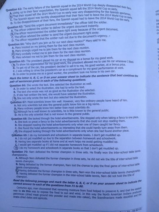 Đề thi, gợi ý giải đề môn Anh văn khối D