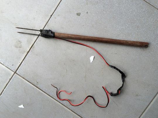 Mũi tên của súng bắn điện mà 2 tên trộm chó sử dụng
