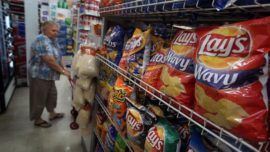 Những túi khoai tây chiên của Pepsi được bán tại Miami, Mỹ