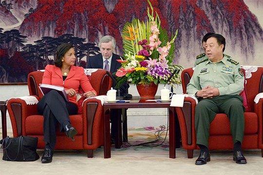 Cố vấn An ninh Quốc gia Mỹ Susan Rice hối thúc Trung Quốc hỗ trợ đối phó với IS. Ảnh: AP