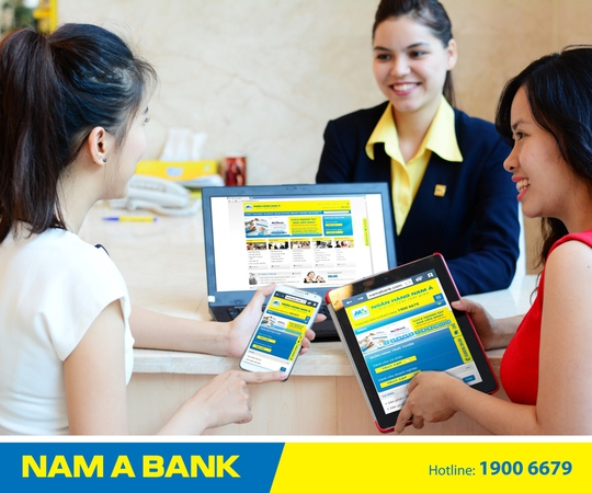 Giao diện website mới của NamA Bank