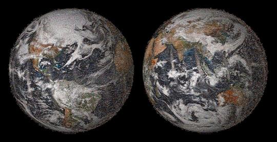 Bức ảnh trái đất được ghép từ hàng ngàn tấm hình cá nhân