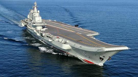 Tàu sân bay Liêu Ninh Trung Quốc. Ảnh: China Daily