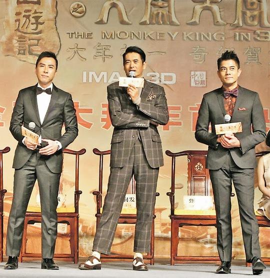 Từ trái sang phải: Chân Tử Đan, Nhuận Phát và Phú Thành
