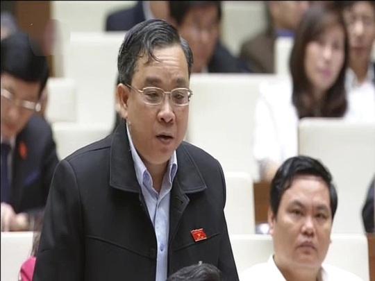 ĐB Nguyễn Ngọc Hòa (TP HCM). Ảnh chụp qua màn hình