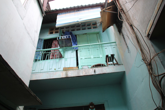 Phần gác căn nhà hung thủ Đặng Văn Tuấn.