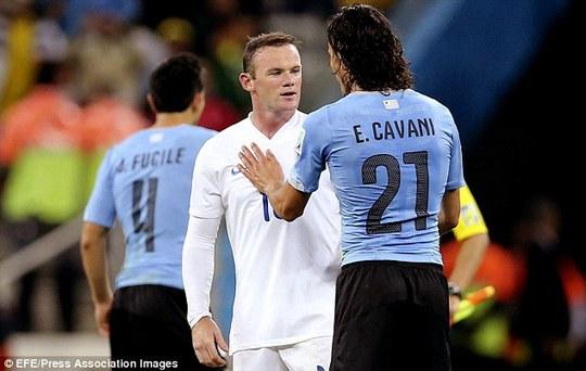 Rooney và Cavani ở World Cup 2014