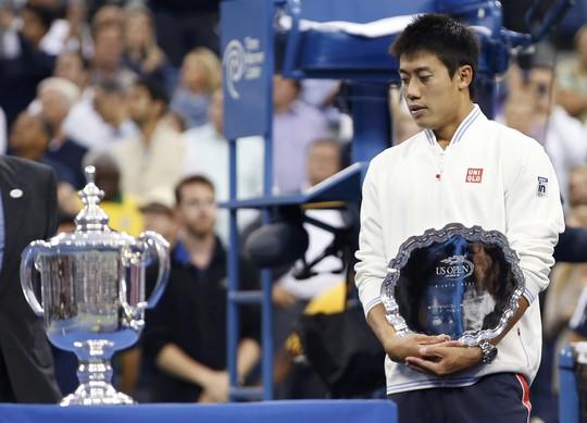 Nishikori buồn khi vuột cơ hội trở thành tay vợt nam châu Á đầu tiên vô địch Grand Slam