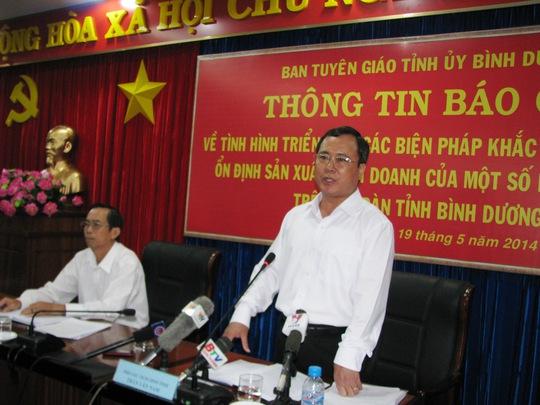 Ông Trần Văn Nam, Phó Chủ tịch UBND tỉnh Bình Dương, khẳng định tỉnh sẽ khôi phục lại được lòng tin của nhà đầu tư nước ngoài