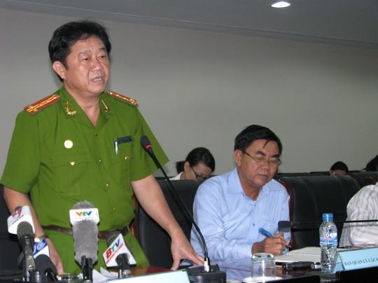 Đại tá Trần Hoàng Thao cho biết hơn 720 đối tượng đang bị tạm giữ hình sự