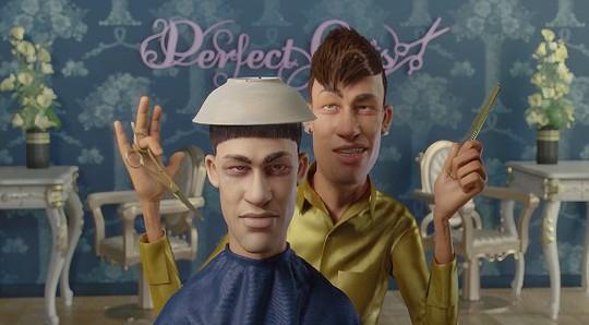 Neymar làm thợ cắt tóc