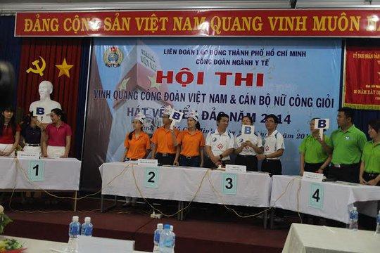 Hội thi cán bộ nữ công giỏi do Công đoàn Y tế TP tổ chức