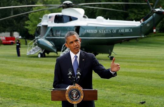 Ông Obama phát biểu vê tình hình Iraq tại Nhà Trắng. Ảnh: Reuters
