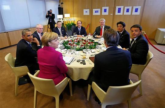 Đây là lần đầu tiên G7 họp tại Brussels, trụ sở của Liên minh châu Âu (EU) mà không có sự tham dự của Nga. Ảnh: Reuters