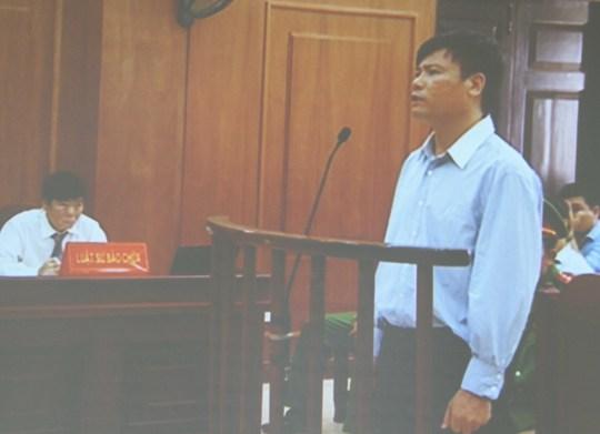 Ông Trương Duy Nhất tại phiên tòa