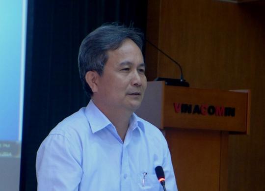 Phó Tổng Giám đốc Tập đoàn Công nghiệp Than và khoáng sản Việt Nam Nguyễn Văn Biên tại buổi họp báo