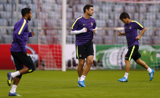 Lampard luyện tập cùng các đồng đội ở Man City