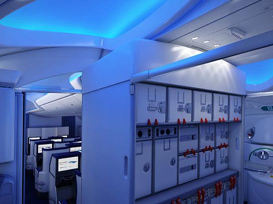 Nội thất bên trong chiếc Giấc mơ bay Boeing 787