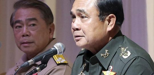 Tướng Prayuth Chan-ocha – ngày 30-5 tuyên bố cuộc bầu cử nước này sẽ hoãn lại ít nhất 15 tháng