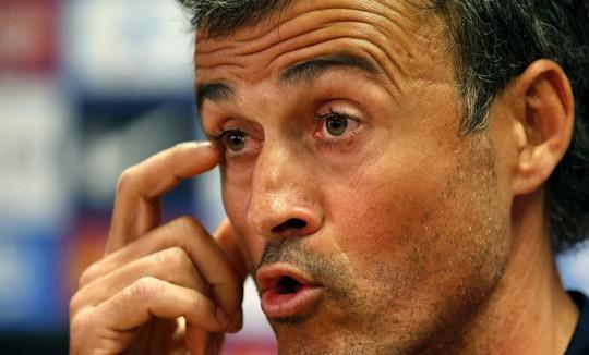 HLV Enrique không hài lòng với kết quả trận đấu