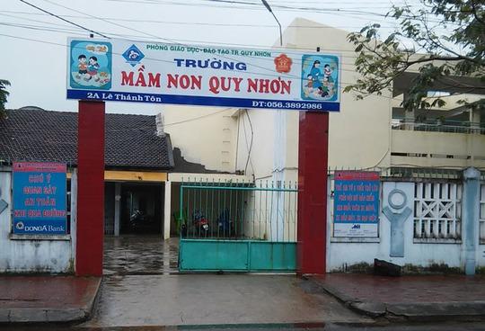 Trường Mầm non Quy Nhơn (TP Quy Nhơn, tỉnh Bình Định).