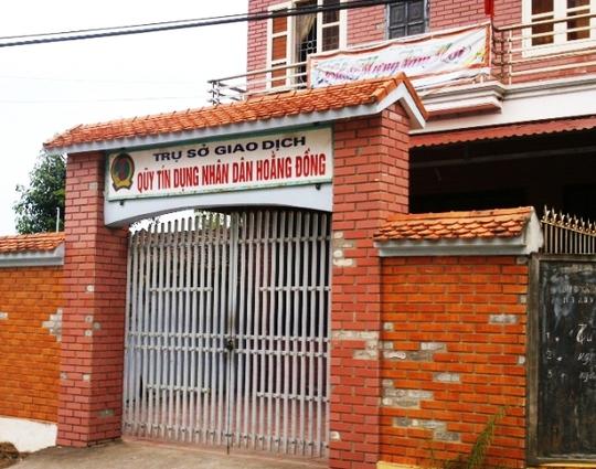 Quỹ tín dụng nhân dân Hoằng Đồng nơi để xảy ra sai phạm