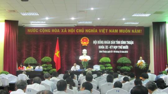 Quang cảnh buổi họp HĐND tỉnh Bình Thuận, chiều 4-12