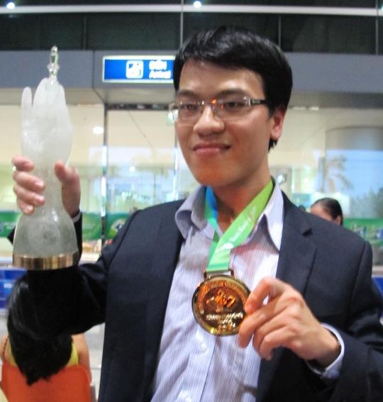 Lê Quang Liêm là kỳ thủ có Elo cao nhất giải Ảnh: Đào Tùng