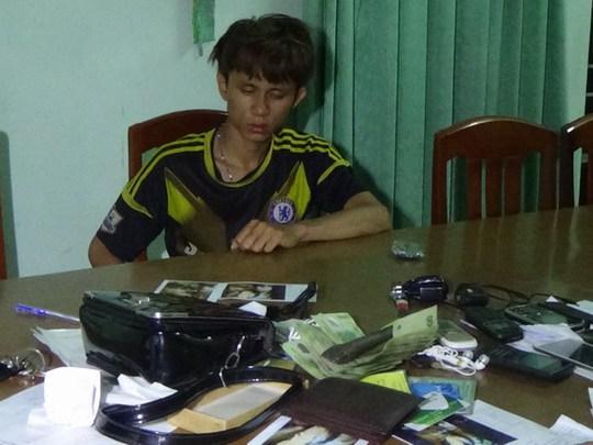 Trần Văn Quý tại cơ quan công an