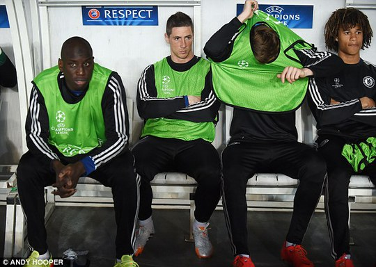 Torres được cho ngồi dự bị