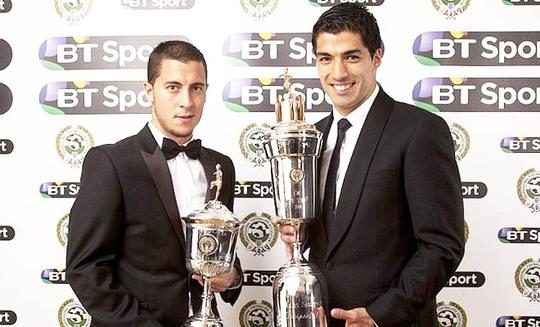 Suarez nhận danh hiệu Cầu thủ xuất sắc nhât mùa giải do PFA trao hồi tuần trước