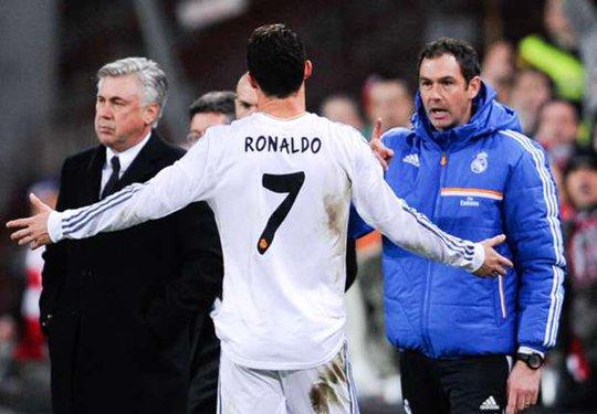 Ronaldo rời sân vì bị thẻ đỏ trong trận gặp Bilbao